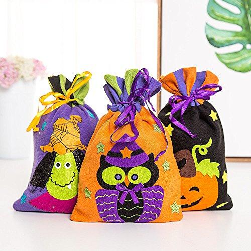 Brujas De Del Hunpta De Lindo Almacenamiento Bolsa Regalo Embalaje Halloween De De B Hijos Partido Caramelos Bolsa w6qBx516