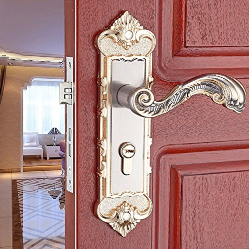 Interior Door Mortise Lock (E Support Continental Antique Mechanical Locks Interior Door Gold Handle Lock Set)