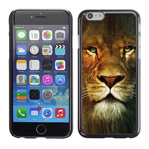 GooooStore/Housse Etui Cas Coque - Lion Portrait Green Eyes Wild Big Cat Africa - Apple iPhone 6