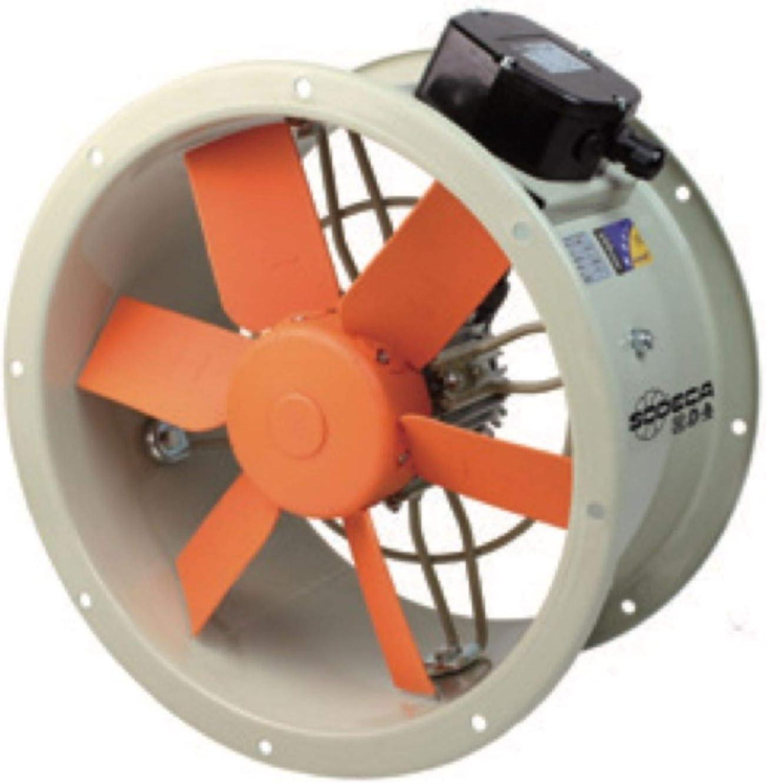 Sodeca 1016940 Ventilador helicoidal, Beige y naranja