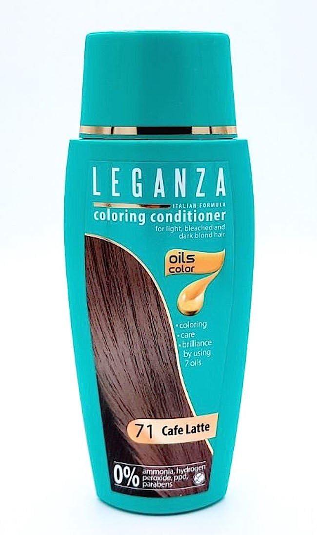 Leganza, 7 aceites naturales, bálsamo para el pelo de color cafe con leche 71