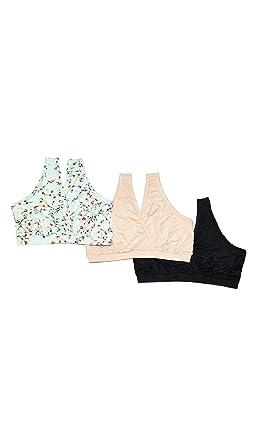 1873e7623b Everly Grey Women s Paisley 3 Pack Maternity and Nursing Sleep Bras at  Amazon Women s Clothing store