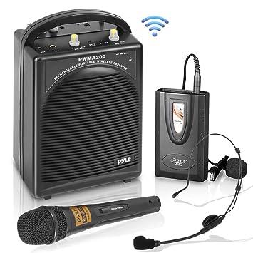 Amazon com: Pyle PWMA200 Compact & Wireless Microphone PA