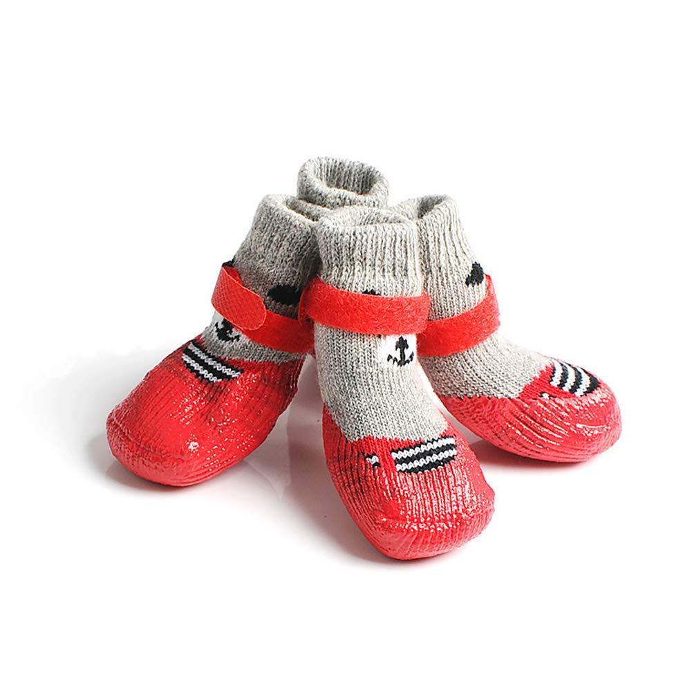 Zapatos Algodó N Para Xuba De Perro Antideslizantes Botas Nieve xUq48 867609d0311