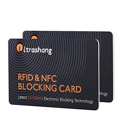 0b35add0802c 2Pcs RFID Blocking Card -Dual Wallet Shield-NFC Bank Debit Credit Protector  Blocker