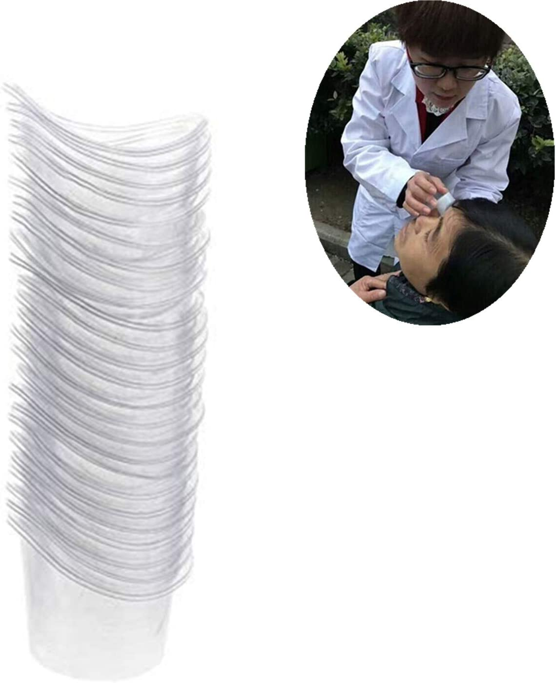 PPX 50 Piezas Desechable Transparente plástico Tazas de lavado de los ojos para eficaz ojo borde en forma de limpieza ojo