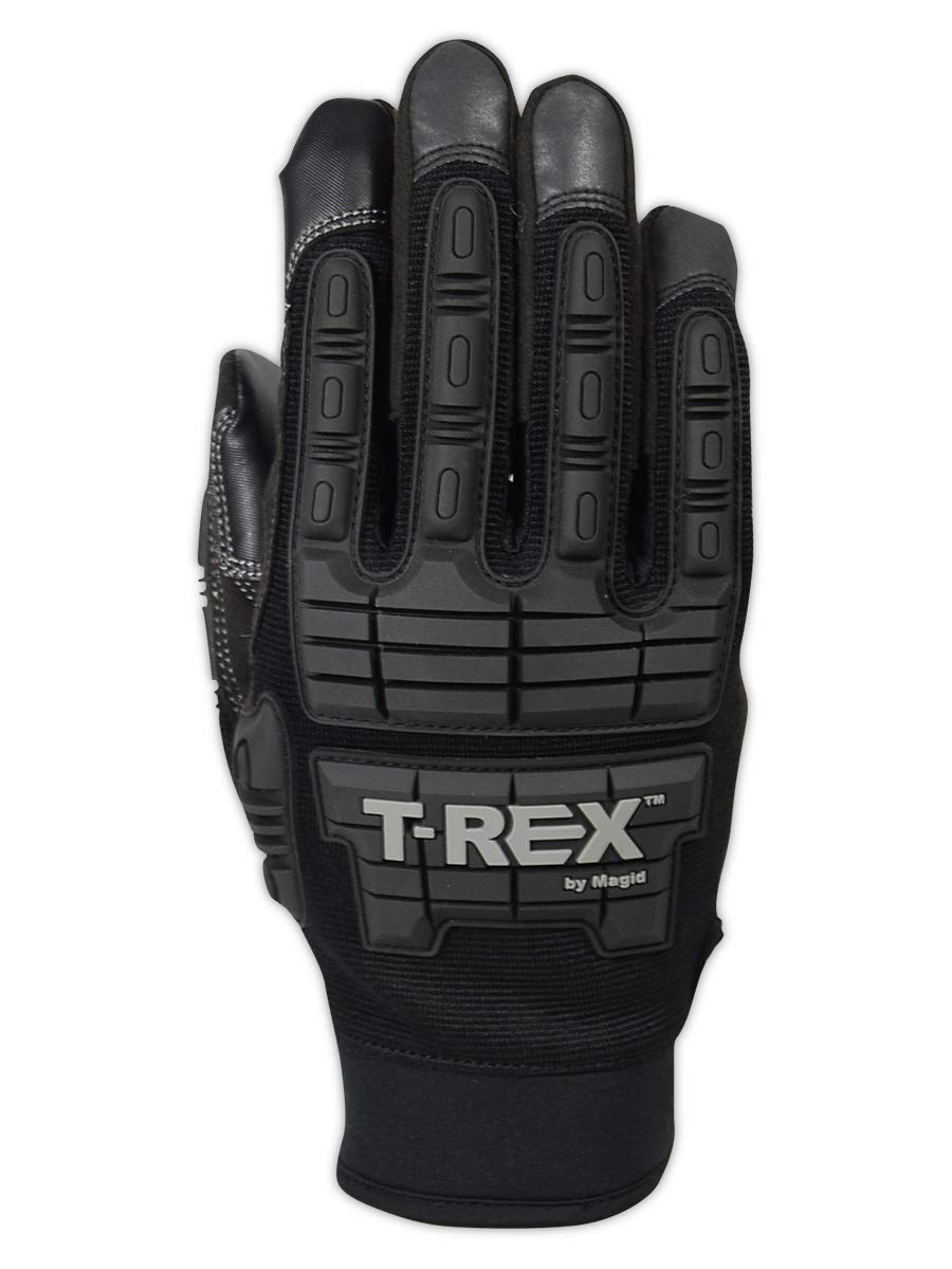 Magid Glove & Safety PGP49TL T-Rex Impact Ultra Gloves, Black, 8/M 3
