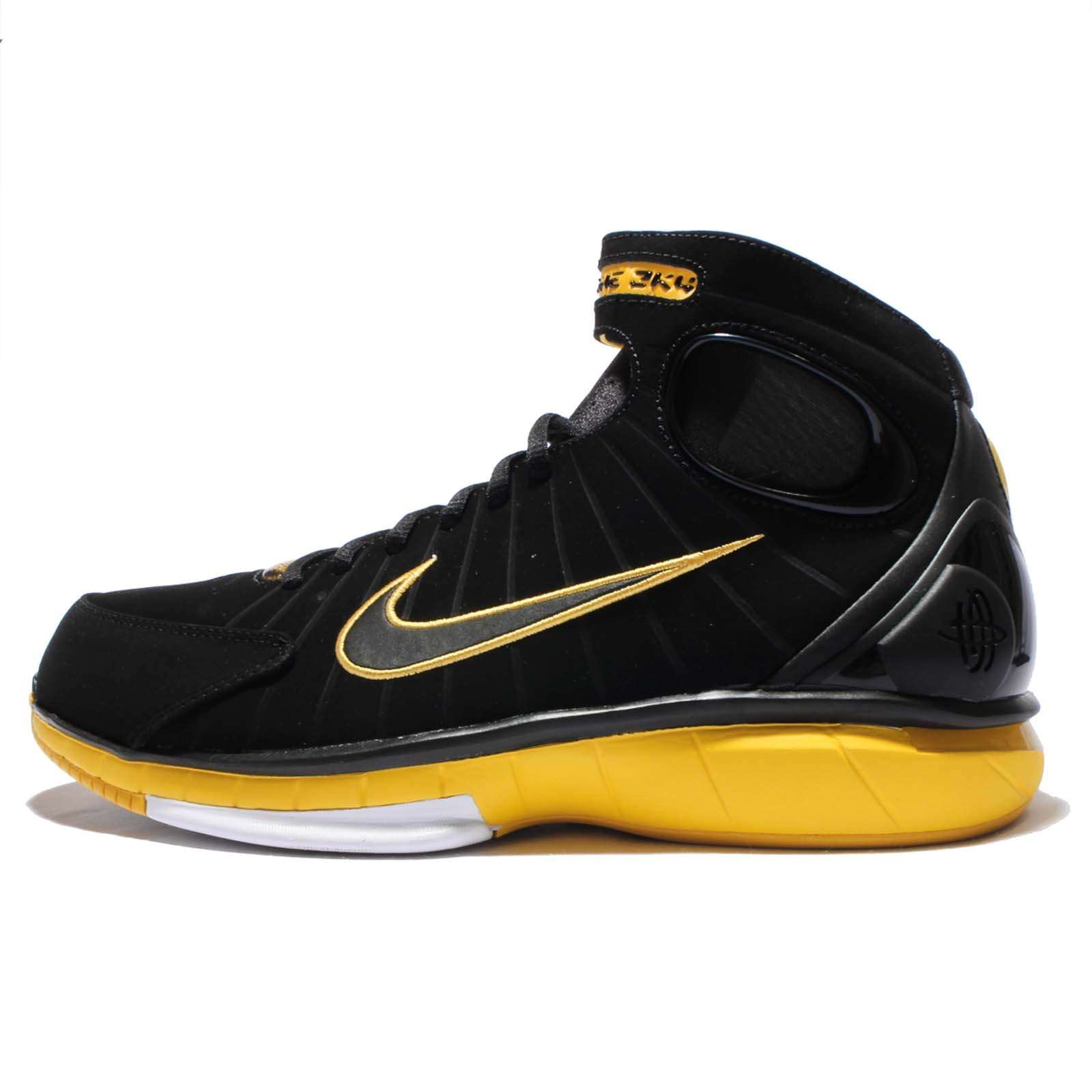 Nike Men's Air Zoom Huarache 2K4 (9.5 D(M) US, BlackBlack Varsity Maize White)
