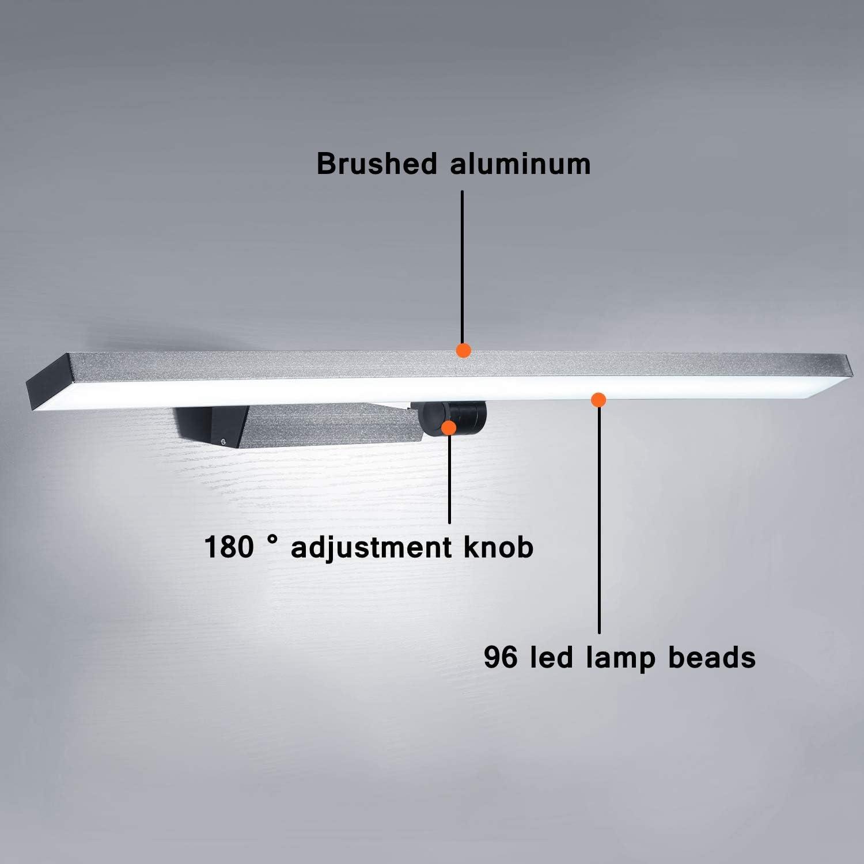 SISVIV L/ámpara Ba/ño Luz Espejo apliques 60CM LED 180 /° Ajustable 21W IP44 Blanco Fr/ío