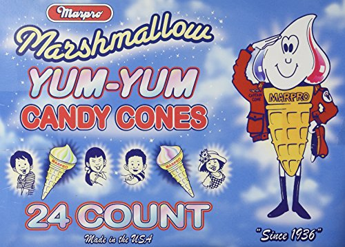 Yum Yum Marshmallow Cones - 24 Ct. Case (Fat Free)