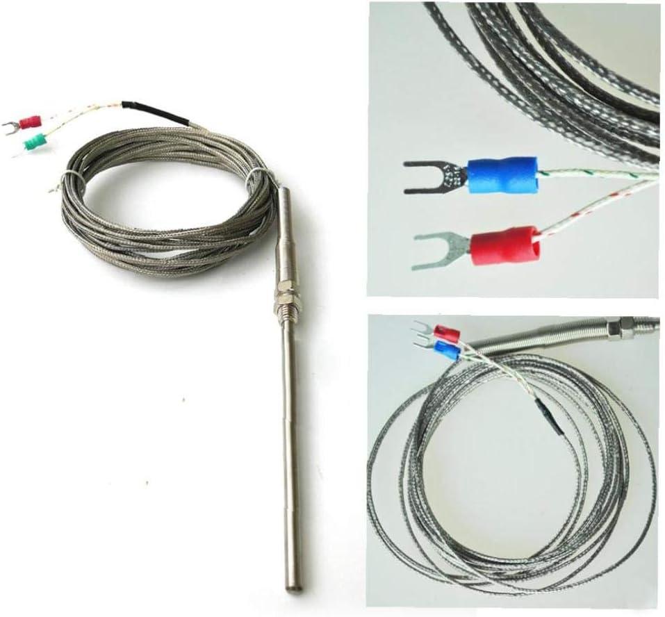 Sensore di termocoppia 100 millimetri Spade K-Tipo regolatore di temperatura sensore di termocoppia 100 /° C a 1250 /° C della sonda 1M