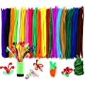 Caydo 342 Pcs Pipe Cleaners Chenille Stem 6 mm x 12 Inch, Assorted Colors