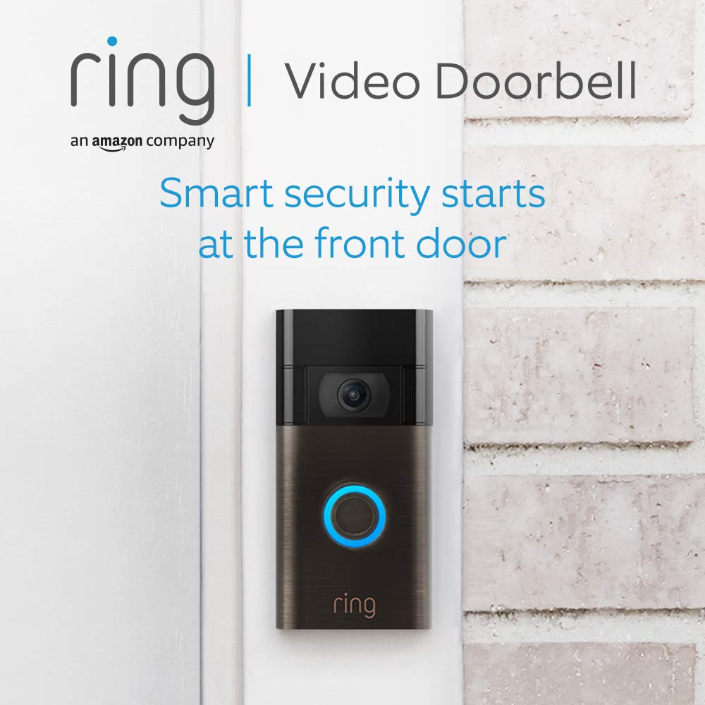 Ring Video Doorbell by Amazon| 1080p HD video, Advanced Motion Detection, and easy installation (2nd Gen) | With 30-day free trial of Ring Protect Plan