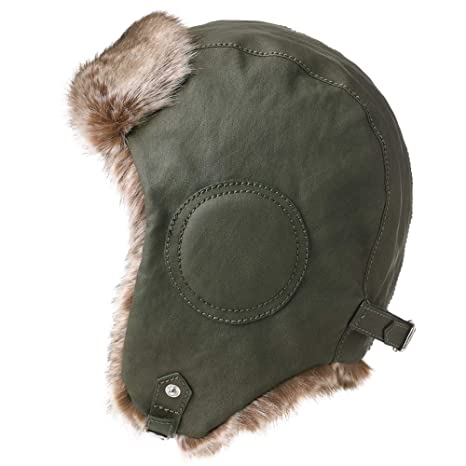 7eba4702a23 Mens Womens Waterproof Faux Fur Aviator Hunting Bomber Trapper Flaps Winter  Cap Ushanka Russian Hat Army