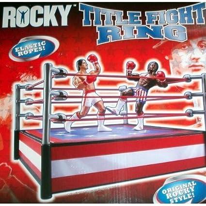 Amazon.com: Jakks Pacific Rocky I Título Lucha Boxeo Ring ...