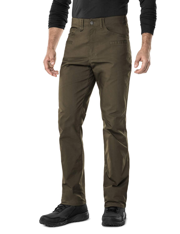 CQR CQ-TFP500-TDR_36W/32L Men's Flex Stretch Tactical Work Outdoor Operator Rip-Stop Trouser Pants EDC TFP500