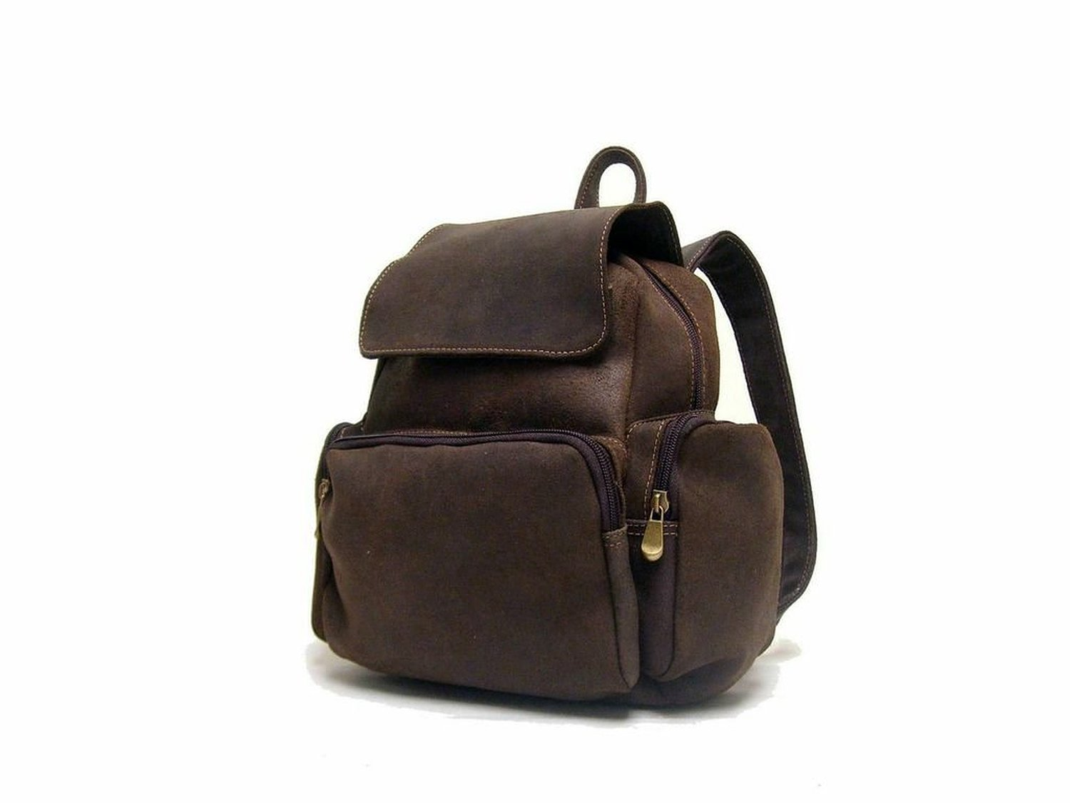 Royce Leather Vaquetta Nappa Knapsack (Brown)