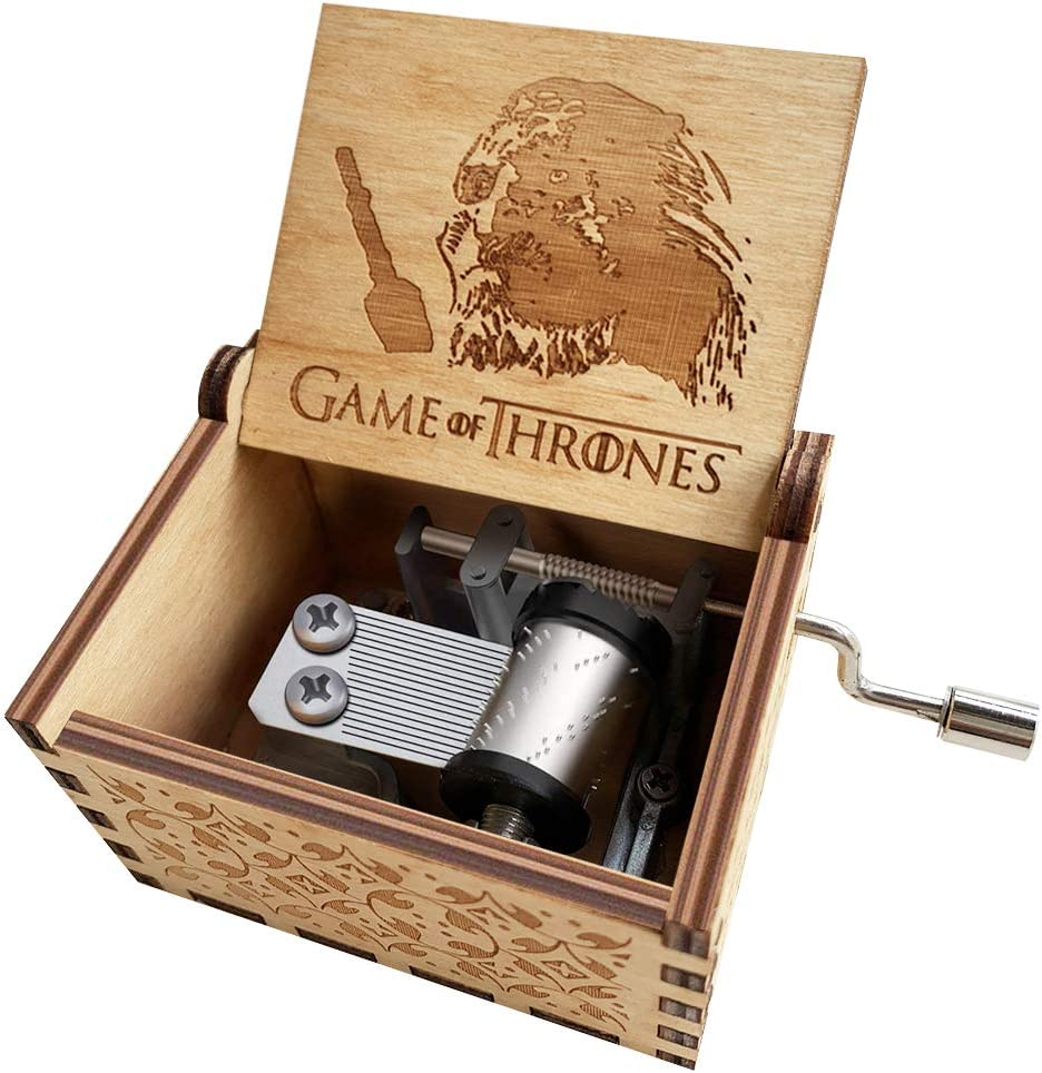 Amazon Com N A Game Of Thrones Night S King Music Box Classic Handcrank Carved Wood Musical Box Gifts For Men And Game Of Thrones Fans Home Kitchen