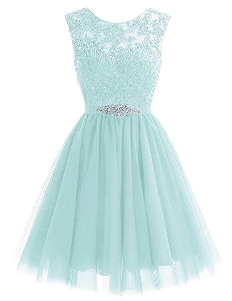 JAEDEN Vestido de Fiesta Vestido de Noche Corto Tul Vestido de Novia Vestido de la Dama