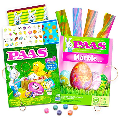 - PAAS Egg Decorating Kit Super Set -- Pack of 2 Easter Egg Dye Kits (Classic and Marble)