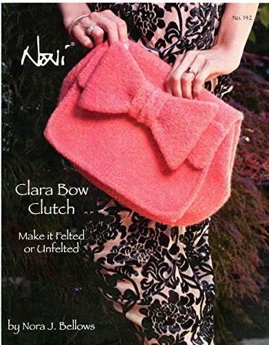 Noni Bags Felted Purse (Noni Knitting & Felting Pattern 142 - Clara Bow Clutch: Make It Felted or Unfelted)