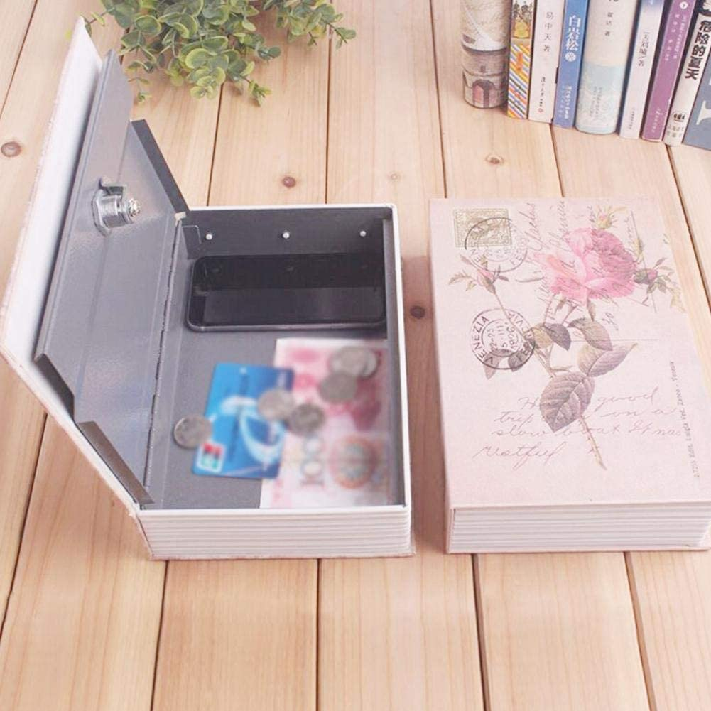Diversion Safe Safe Creative Small Sized Book Shape Key Lock Can Simulation Retro Style Book Money Jewelry Storage Piggy Bank