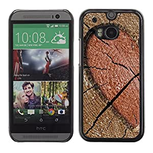 Graphic4You Heart Engraved Log Design Hard Case Cover for HTC One (M8)