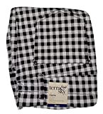 Black & White Gingham Plaid Plus Size Generous Fit Full Length Jegging - 2X