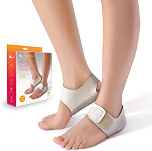 Heel That Pain Heel Seat Wraps for Plantar Fasciitis and Heel Spurs – Perfect for Heel Pain Relief While Barefoot or with Sandals   Patented, Clinically Proven, 100% Guaranteed (Medium)