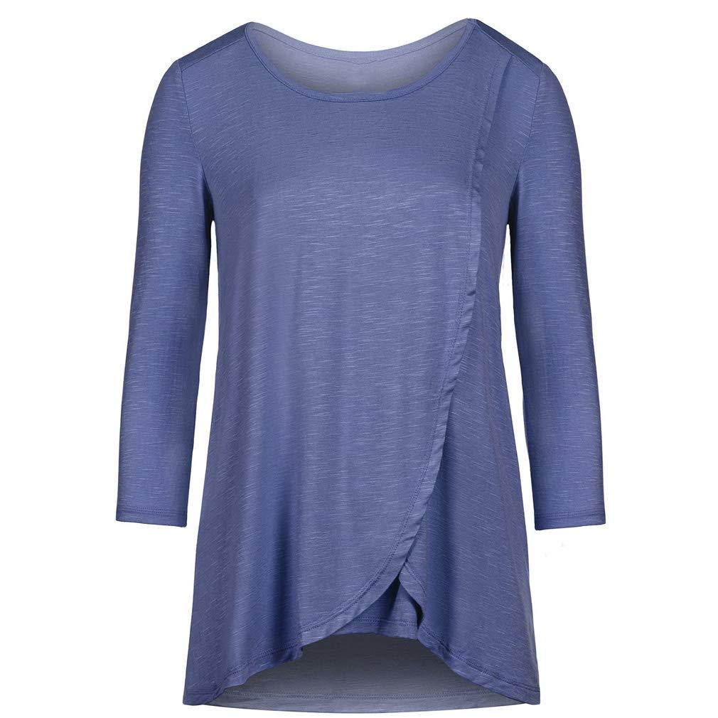 WEIMEITE Damen Umstandsmode Comfy Long Sleeves Stillen Hemden und Pflege Tops