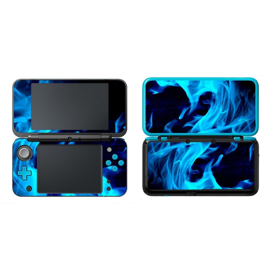 FOTTCZ Vinyl Cover Decals Skin Sticker for New Nintendo 2DS XL/LL - Ice Blue Blaze