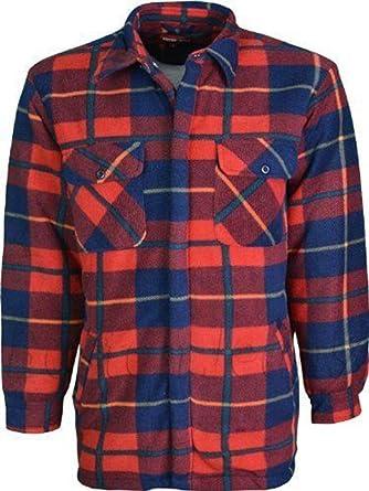 Para hombre en el interior acolchado de camisa con pelo ...