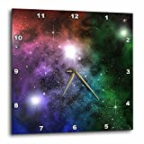 Perkins Designs Space Clouds Planets Stars and Nebulae Speckle Wall Clock, 10 by 10-Inch Review