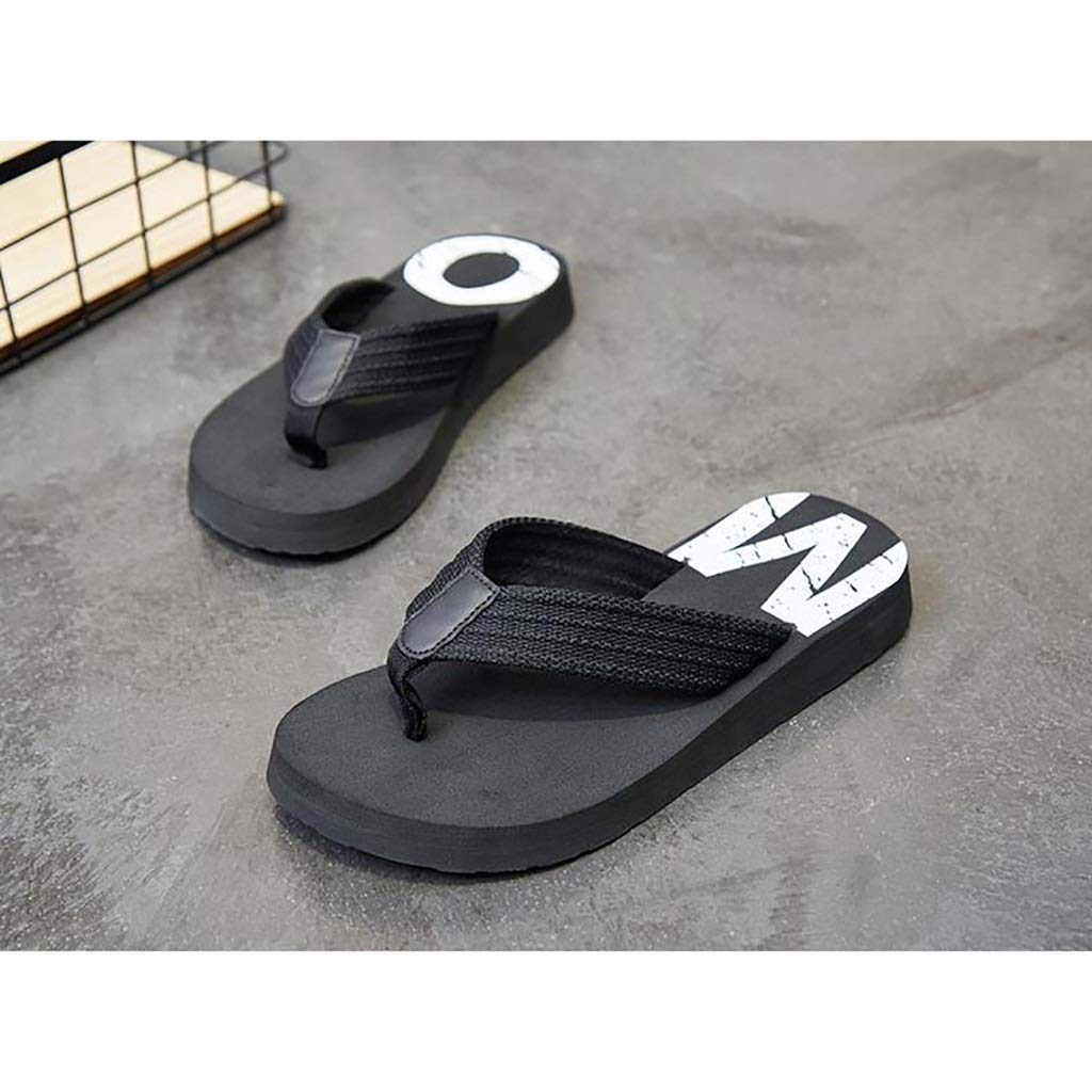 Size : 10 US Flip Flops HUYP Male Summer Slip Sandals Casual Fashion Wear Beach Shoes Personality Slippers