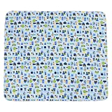 Jili Online Waterproof Changing Diaper Pad Cotton Washable Toddler Babies Urine Mat Nappy ( Pink Flower, Orange Zoo, White Zoo, White Transport, Blue Car ) - 5x Different Mat, as described