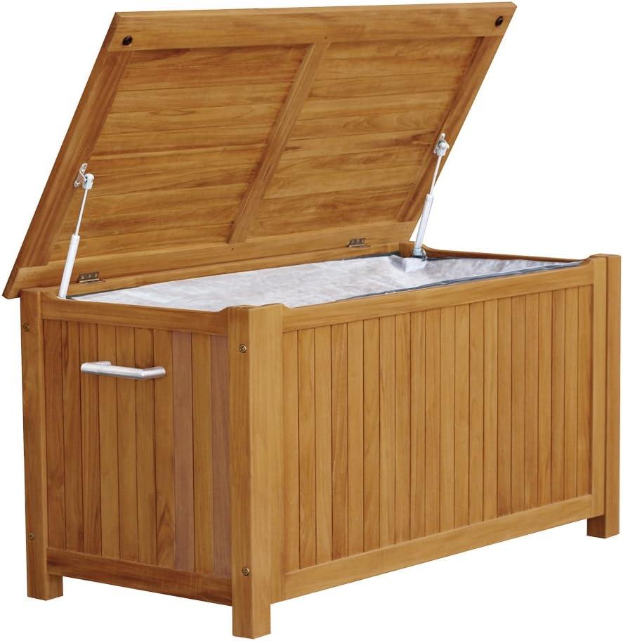 130 x 60 x 60 cm Dehner Aufbewahrungsbox Tessin grau ca Kunststoffgeflecht//Aluminium