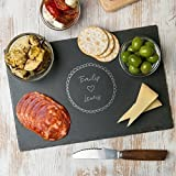 Personalized Cheese Board - Engagement/Housewarming Gifts for Couples - WOOD or SLATE Cheese Cutting Boards to choose from!