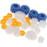 MagiDeal 26Pieces Set Assorted Plastic Plastic Gears Cogs Plastic Gears Toothed Wheeled Shank Worn Gear DIY Kit