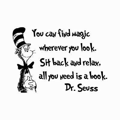 Quote Wall Decal Dr Seuss Vinyl Sticker Decals Quotes You Can Find Magic Wherever You Look Decal Quote Sayings Decor Nursery Baby Room x245: Baby