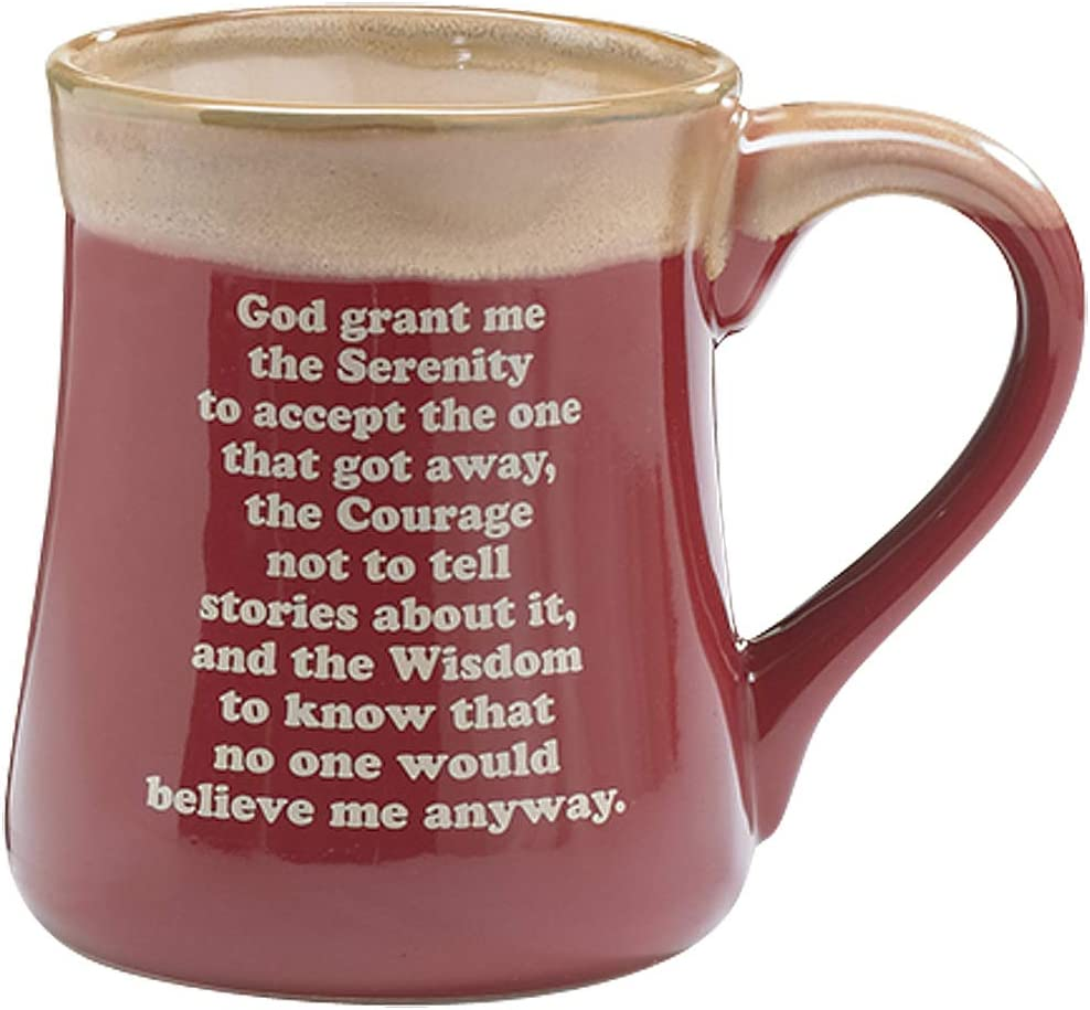 Amazon Com Born To Fish Coffee Mug With Fishermans Serenity Prayer Great Fishing Gift Kitchen Dining