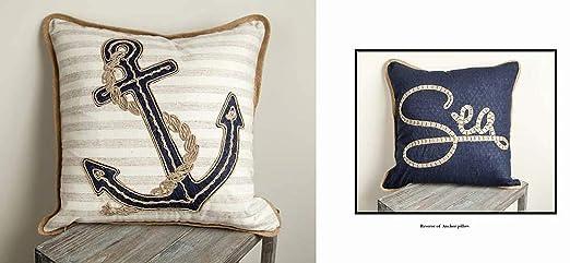 Amazon.com: Kensington Row Coastal Collection – Almohada ...