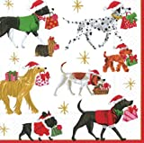 Cocktail Napkins Holiday Party Christmas Napkins Entertaining Dog Parade Pk 40