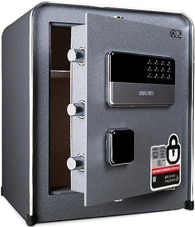 Qazxsw Seguro, Bloqueo Caja de Almacenamiento Certificado Pistola Efectivo Acero Pequeño electrónico Oficina de Seguridad para el Hogar de Noche Seguro Caja Fuerte,Negro,42 * 36 * 60cm: Amazon.es: Hogar