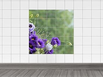 Piastrelle adesivo decalcomania per piastrelle bagno viola bouquet