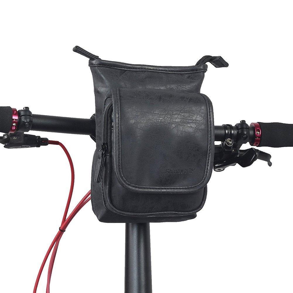 Multifunción Bolsa para Manillar de Bicicleta, Selighting Impermeable Alforjas Bolsa Delandera de Bicicletas de Carretera y de Montaña para Ciclismo con Correa para el Hombro Extraíble y Cubierta para la lluvia