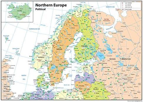 Cartina Politica Italia Del Nord.Nord Europa Mappa Politica Carta Plastificata Ga A0 Amazon It Cancelleria E Prodotti Per Ufficio