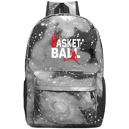 Mochila escolar con diseño de pelota de baloncesto para galaxia ...