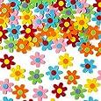 Fiori Autoadesivi in Feltro Ideali per Decorare e Personalizzare Bigliettini, Creazioni Fai Da Te e Collage (confezione da 60)