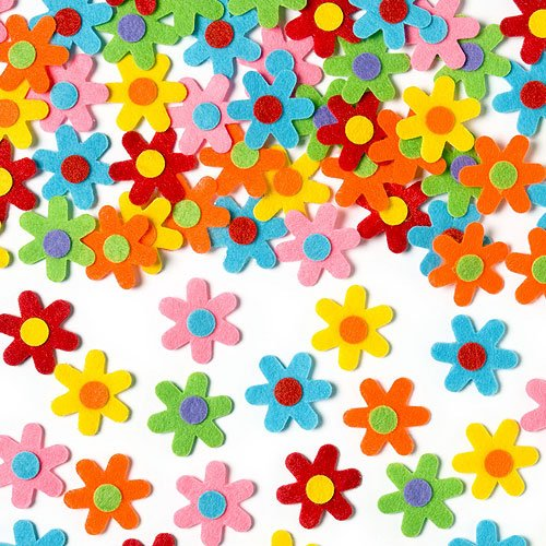 Self-Adhesive Felt Flowers Stickers Children's Art and Craft Activities (Pack of (Self Adhesive Felt Flowers)