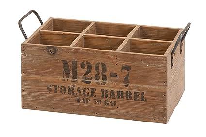 Wooden Barrel 6-Wine Crate